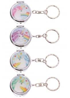 Unicorn Pocket Mirror Keyring