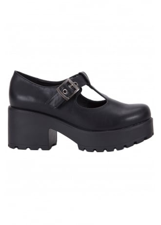 Attitude Clothing Vegan Leather Buckle Shoe