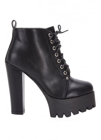 Attitude Clothing Vegan Leather Platform Ankle Boot