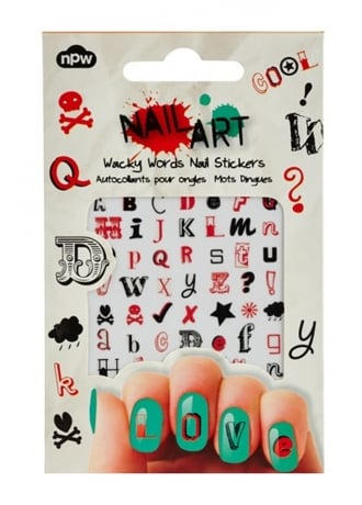 Attitude Clothing Wacky Words Nail Stickers
