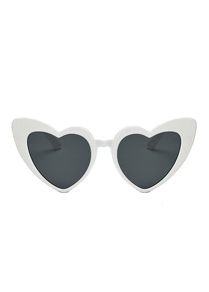 edd246cdcc White Heart Shape Cat Eye Sunglasses