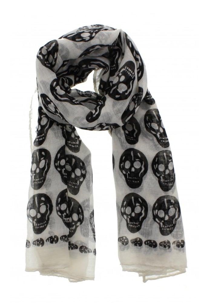 White Skull Scarf  5f286703b