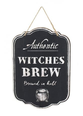 Attitude Clothing Witches Brew Hanging Sign