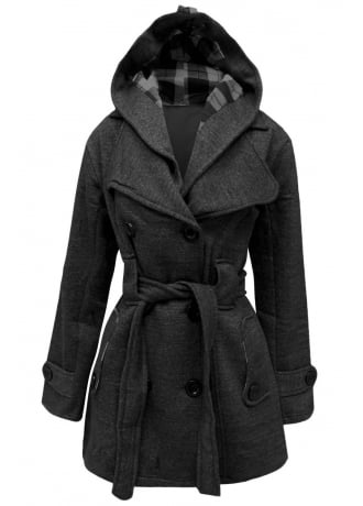 Attitude Clothing Womens Double Breast Pea Plus Coat