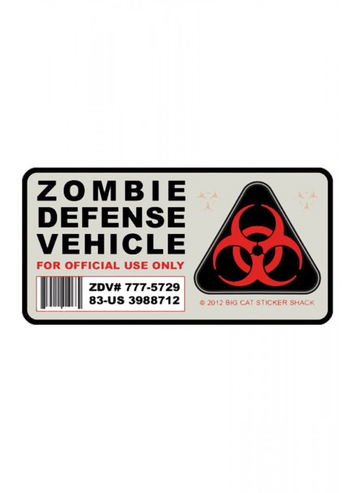 Zombie Defense Vehicle Reflective Car Sticker