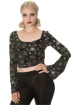 9 Lives Flare Sleeve Top