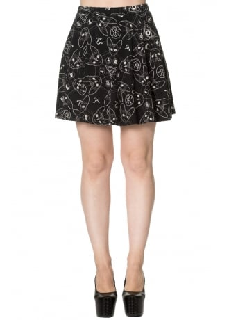 Banned Apparel 9 Lives Skater Skirt