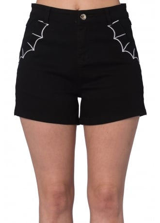 Banned Apparel Bell Tower Bat Gothic Shorts