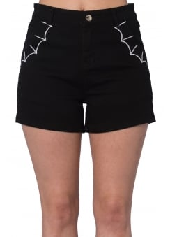 Bell Tower Bat Gothic Shorts