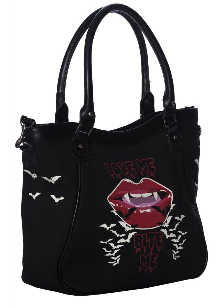 Banned Apparel Bite Me Gothic Bag Attitude Clothing