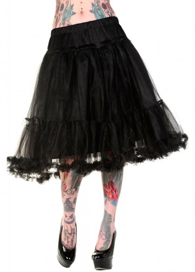 Banned Apparel Black Long Petticoat