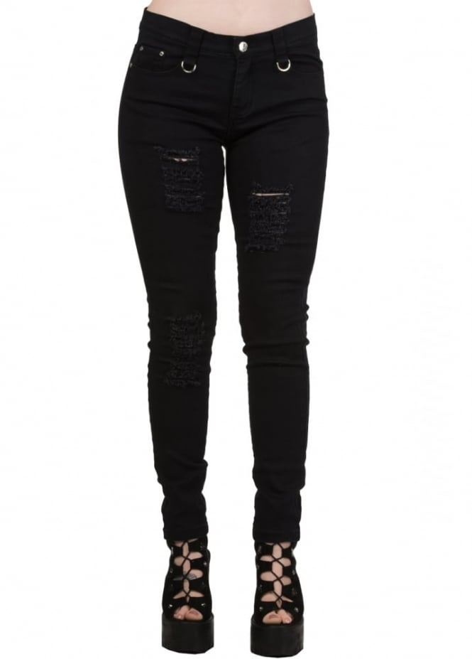 Banned Apparel Black Move On Up Trousers