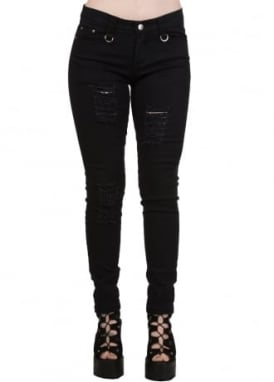 Black Move On Up Trousers
