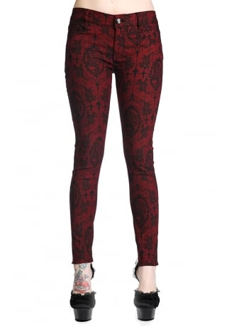 Banned Apparel Cross Cameo Gothic Trousers