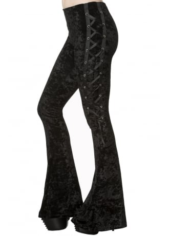 Banned Apparel Haunting Return Flared Gothic Leggings