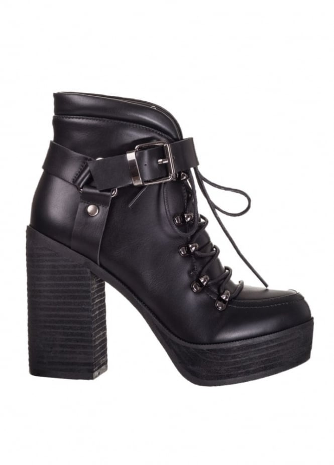 Banned Apparel Helena Buckle Platform Boot