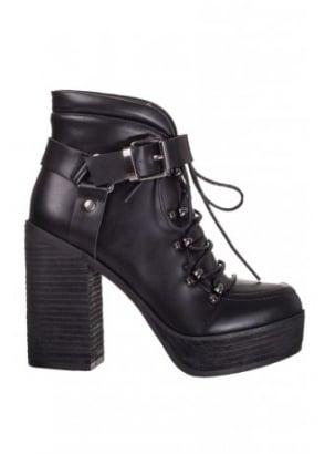 Helena Buckle Platform Boot
