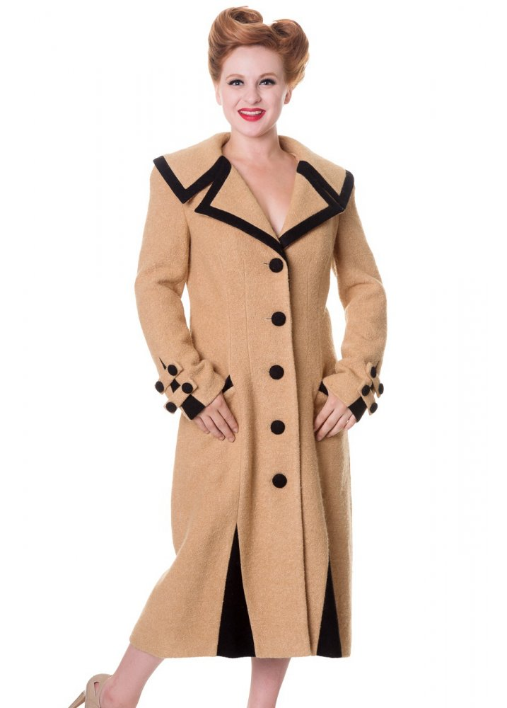 banned apparel vintage button coat attitude clothing