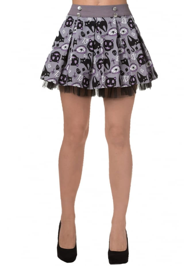 Banned Apparel Nine Lives Mini Skirt