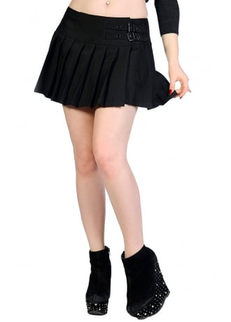 Banned Apparel Plain Black Mini Skirt