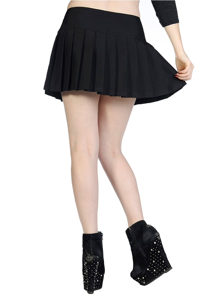 Banned Apparel Plain Black Mini Skirt Attitude Clothing