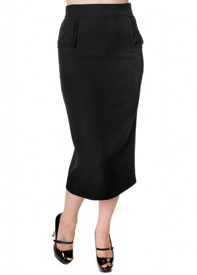 banned apparel plain pencil skirt attitude clothing