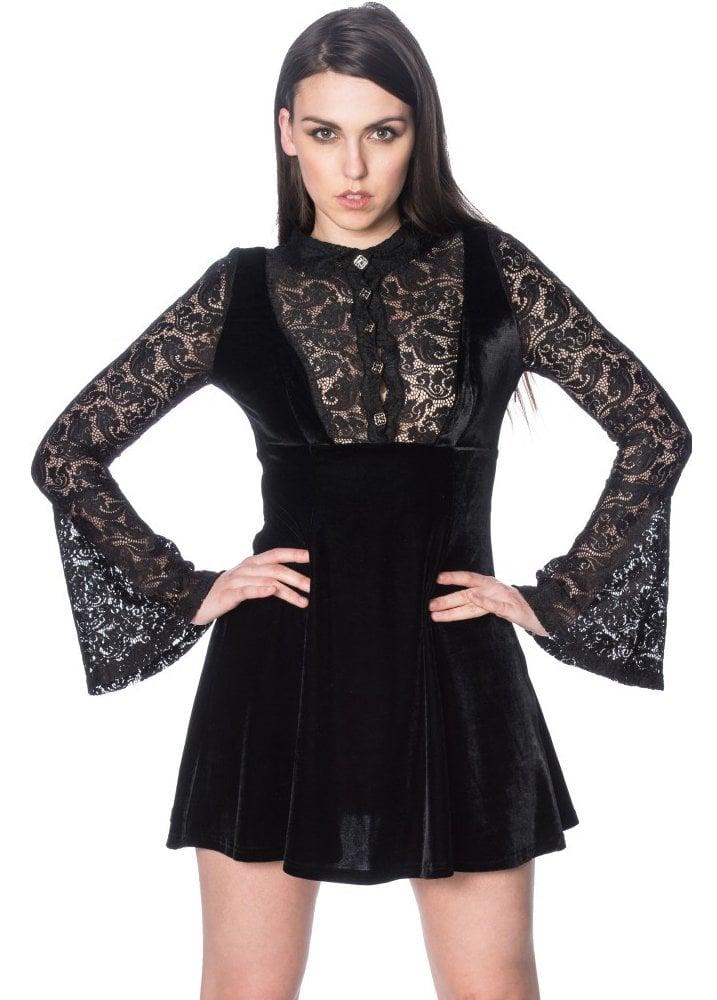 banned apparel poison plus size gothic dress  attitude