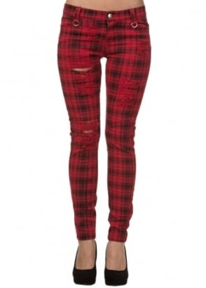 Red Move On Up Trousers