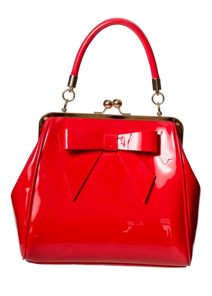 Banned Apparel Red Patent American Vintage Bag