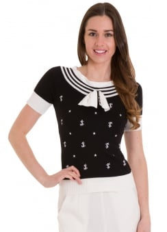 Set Sail Retro Knit Top