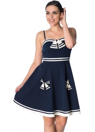 Banned Apparel Set Sail Retro Plus Size Strappy Dress