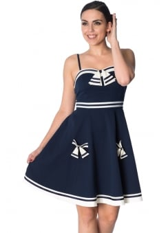Set Sail Retro Plus Size Strappy Dress
