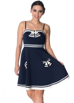 Set Sail Retro Strappy Dress