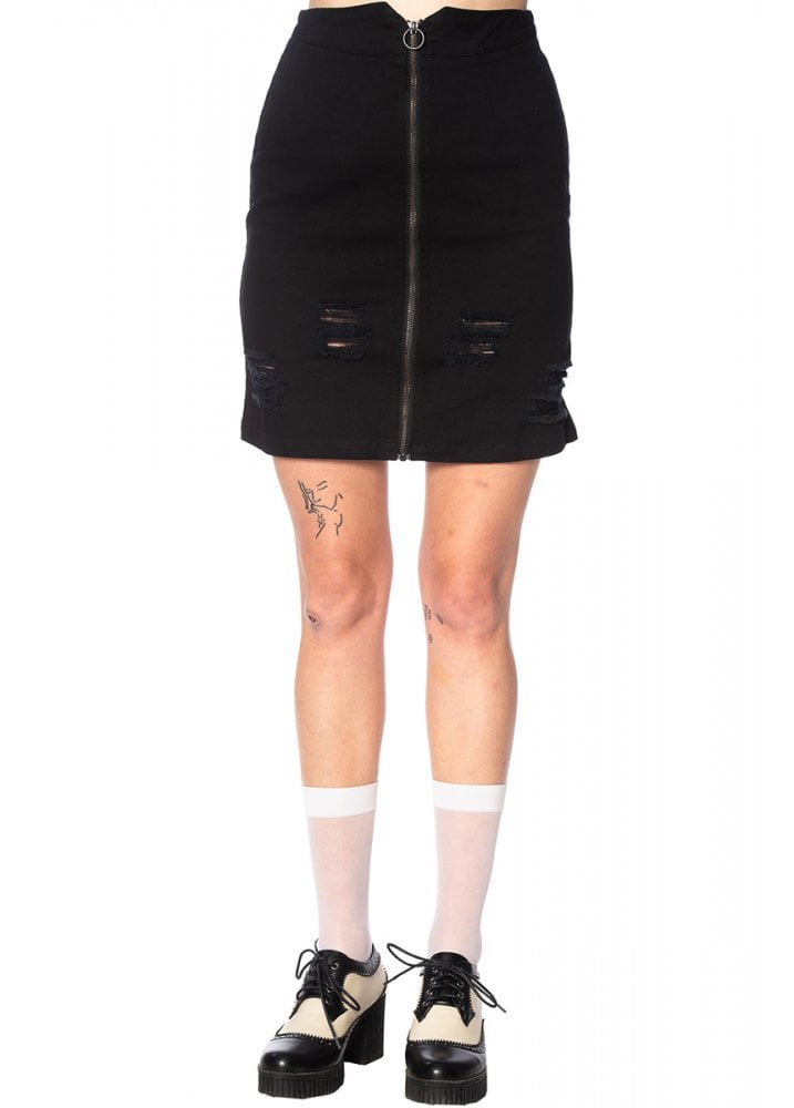 49b0a41d6 Banned Apparel Trashed & Ragged Skirt | Attitude Clothing
