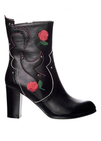 Banned Apparel Wildheart Western Ankle Boot
