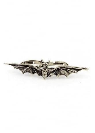 Bat Double Finger Ring