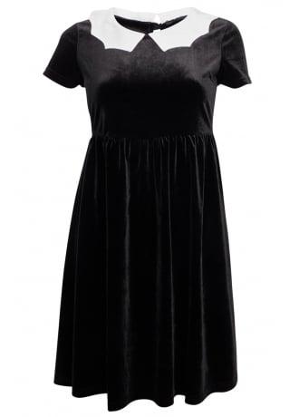 Bat Royalty Bat Collar Velvet Dress