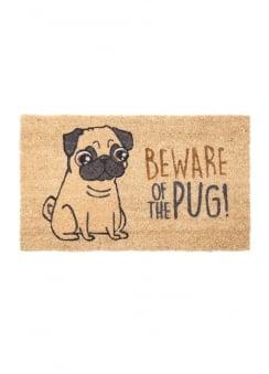 Beware Of The Pug Door Mat