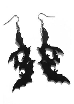 Black Bat Earrings