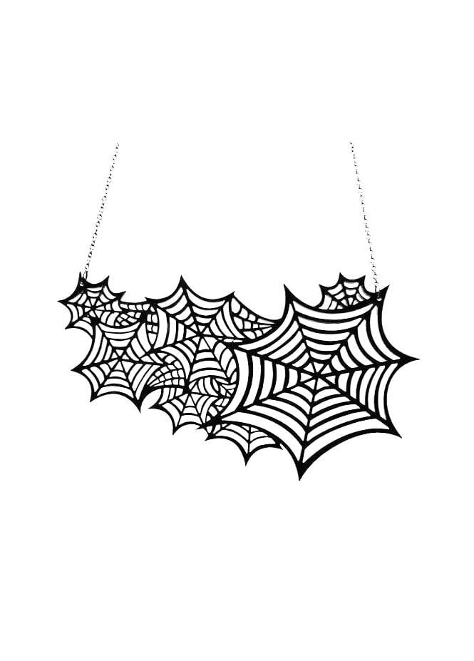 Black Cobweb Necklace