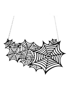 Black Cobweb Necklace