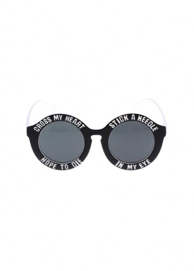Black Cross My Heart Hope To Die Sunglasses