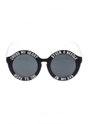 Black Cross My Heart Hope To Die Sunglasses