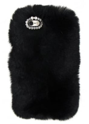 Black Furry iPhone 6/6S Case