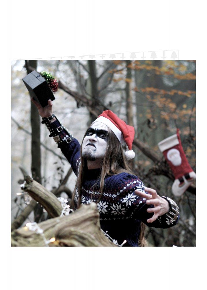 Black metal gift goblin christmas card attitude clothing