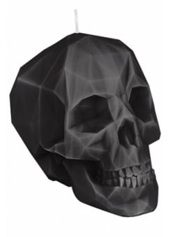 Black Polly-Skull Candle