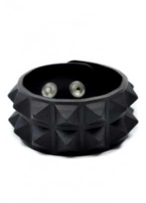 Black Pyramid Stud Wristband