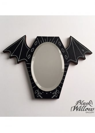 Black Willow Gallery Bat Mirror