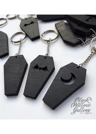 Black Willow Gallery Coffin Keychain
