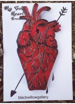 My Heart Coffin Brooch